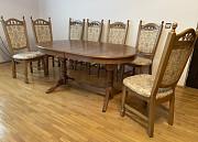 Стіл розкладний з масиву та стільці Коломыя