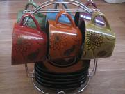 Продам сервиз новый на подставке 6 чашек,6 блюдец доставка из г.Николаев