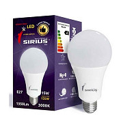 LED лампа Sirius 1-LS-3107 А65 15W-3000K-E27 Винница
