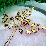 Шпилька-заколка-украшение для волос- золотое сияние- доставка из г.Луцк