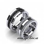 Обручальные кольца с черными бриллиантами Киев